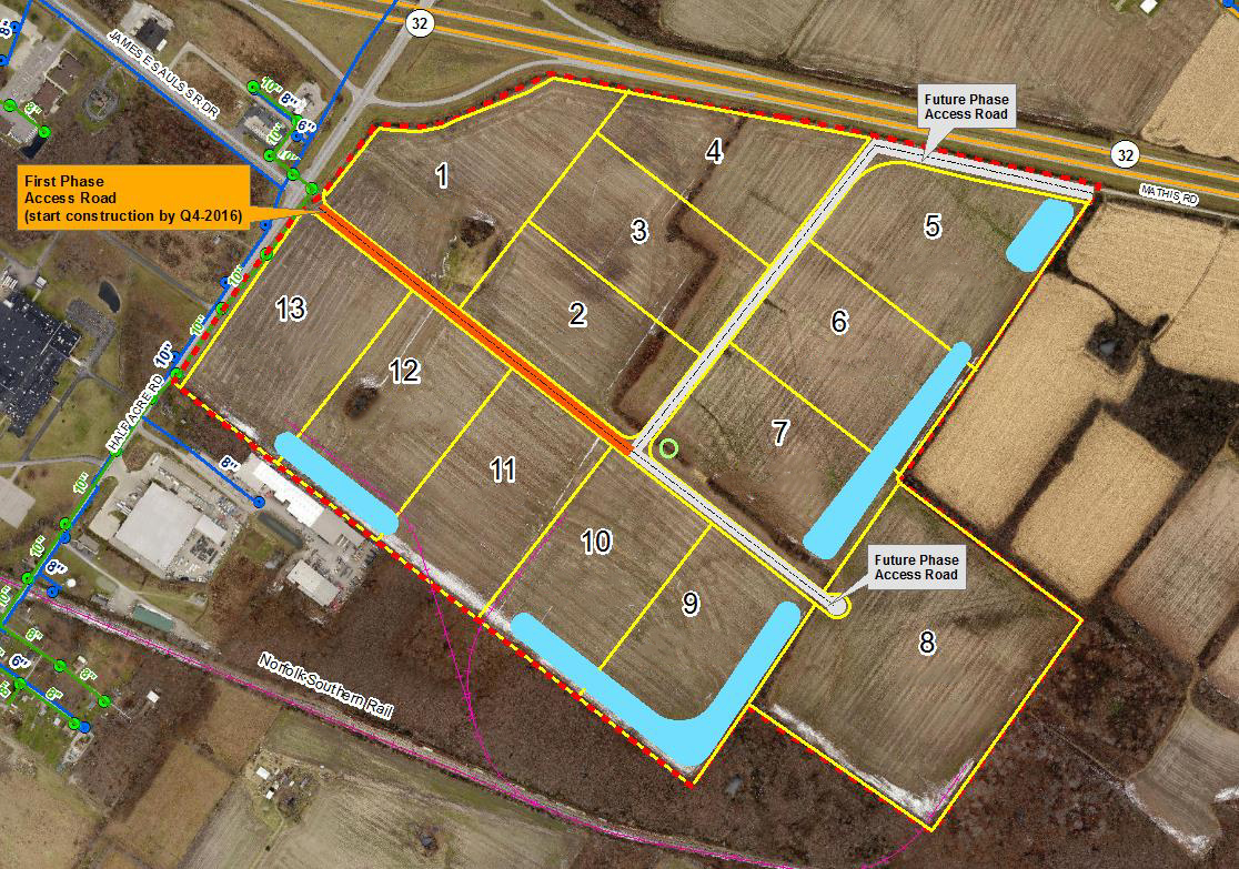 South Afton Commerce Park map overview