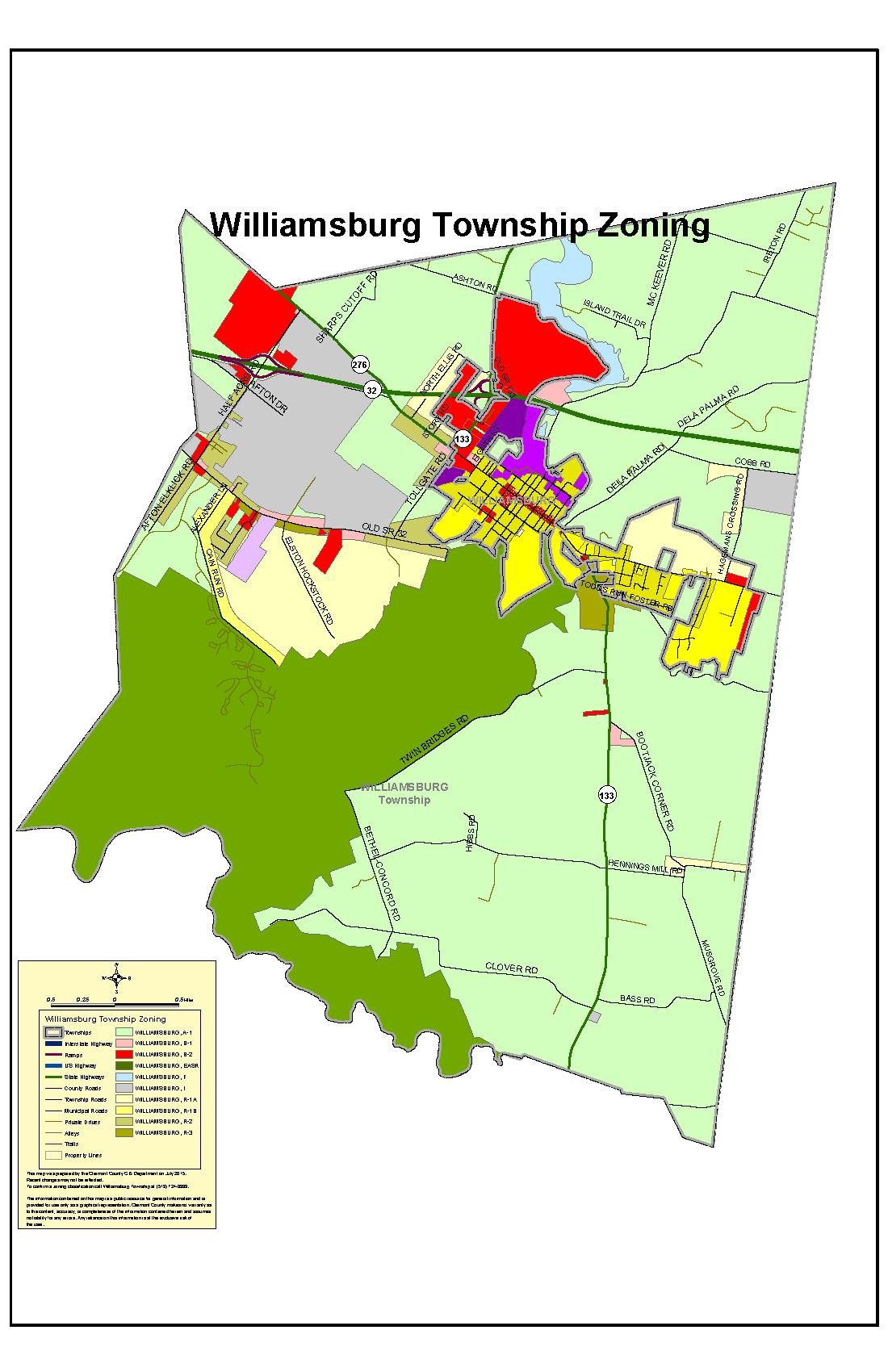 Williamsburg Township, Ohio Zoning Map